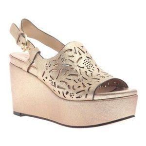 Naked Feet New Tan Pegasi Leather Platform Sandals